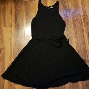 Black a-line tank top dress